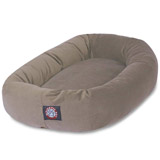 suede dog bed